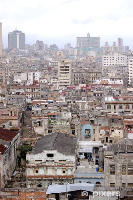 Papier peint vinyle Vue de dessus de la ville de La Havane, Cuba - Thèmes