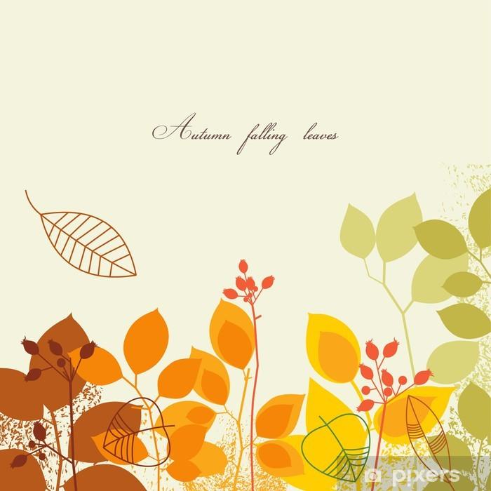 Plakat Jesienne liście w tle - Pory roku