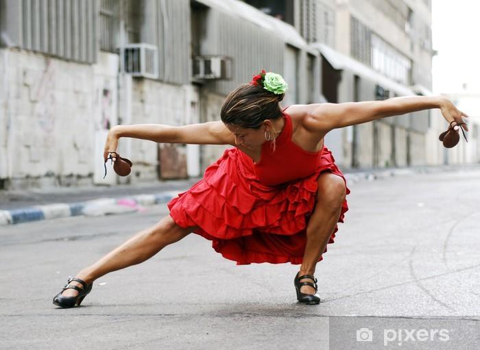 Fototapet av Vinyl Flamencodansare med kastanjetter - Teman