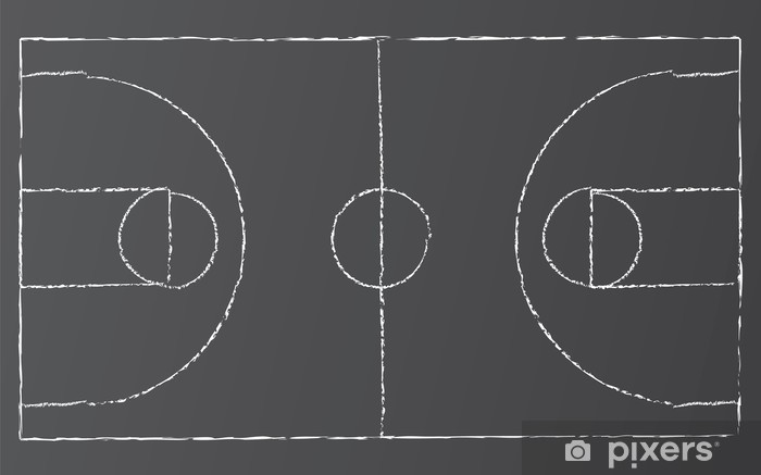 Sticker Pixerstick Vecteur de basket - Sports collectifs