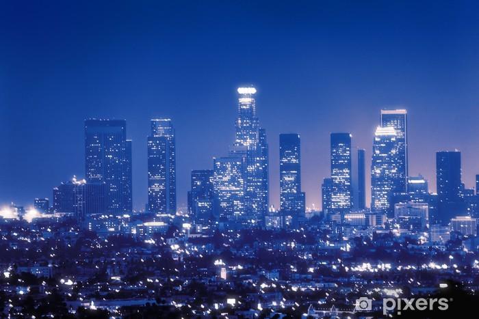 Fototapeta winylowa Los Angeles Skyline w nocy - Tematy