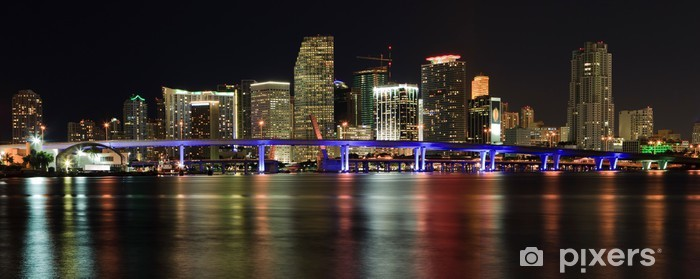Downtown Miami Skyline Wall Mural