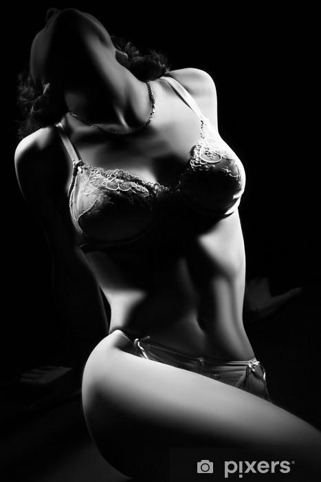 Vinyl Fotobehang Lichaam van de mooie vrouw in lingerie. - Lingerie