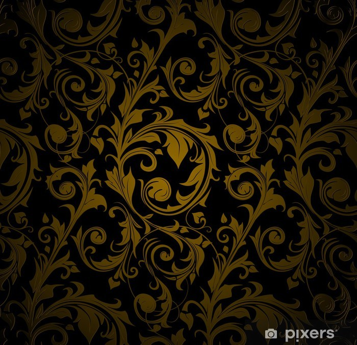 wall murals seamless wallpaper pattern black.jpg