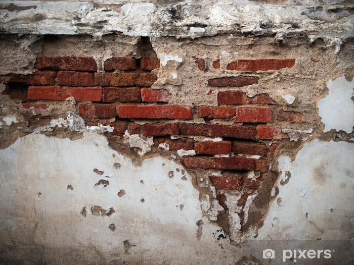 Fotomural Estándar Vieja pared de ladrillos rotos - Estilos