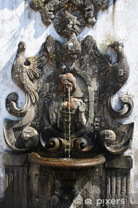Naklejka Pixerstick Fontanna z pięciu zmysłów - Bom Jesus do Monte - Zabytki