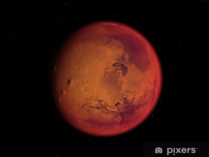 Vinyl Fotobehang Planète mars - Planeten