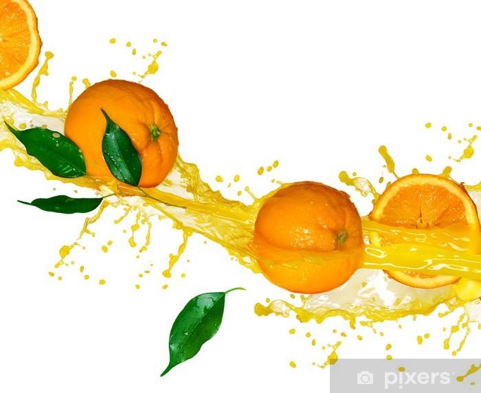 Fotomural Estándar Zumo de naranja aislado en blanco - Vinilo para pared