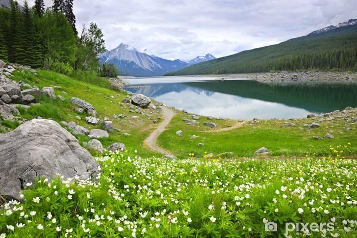 Naklejka Pixerstick Górskie jezioro w Park Narodowy Jasper, Kanada - Woda