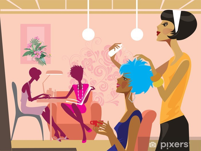 Fototapeta zmywalna Kobiety w salonie piękności -
