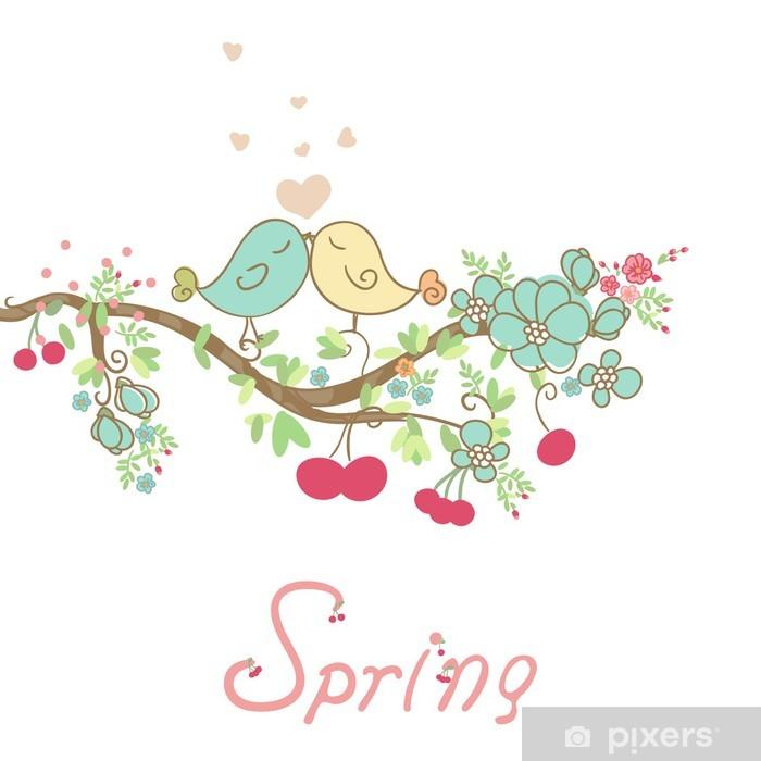 Plakát Romantický jarní karty - Roční období