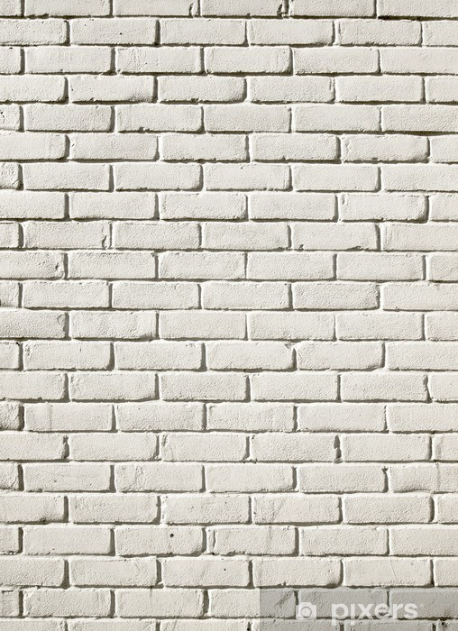 Old White Painted Brick Wall Background Vinyl Mural Textures