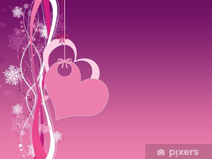 Nálepka Pixerstick Valentýn karty - Pozadí