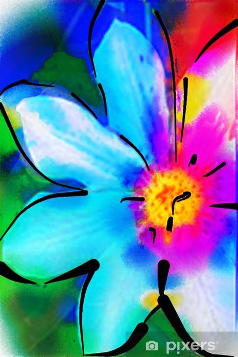 Sticker Pixerstick Illustration fleur - Art et création