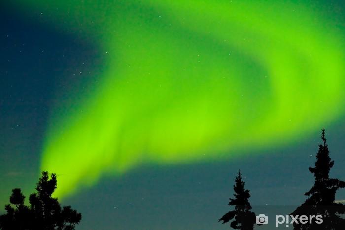 Sticker Pixerstick Aurora borealis (Northern lights) affichage - Merveilles naturelles