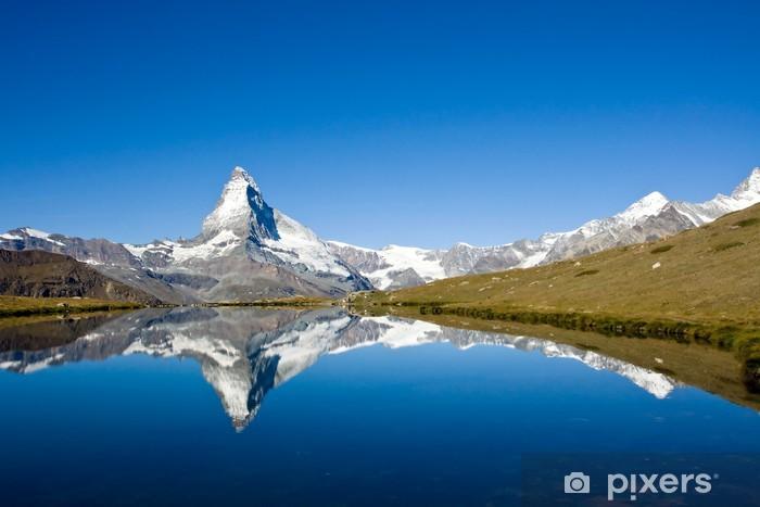 Vinyl Fotobehang Panorama van de Matterhorn - Thema's