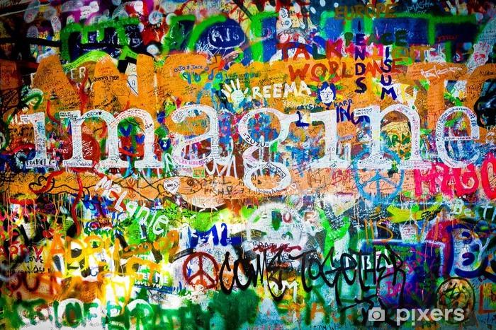 Muro de John Lennon (Praga) - Imagine (Toma 1) Vinyl Wall Mural -