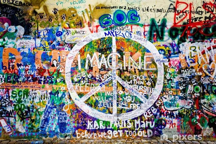 Fototapeta winylowa John Lennon ściana (Praga) - symbol pokoju (take 1) - Tematy