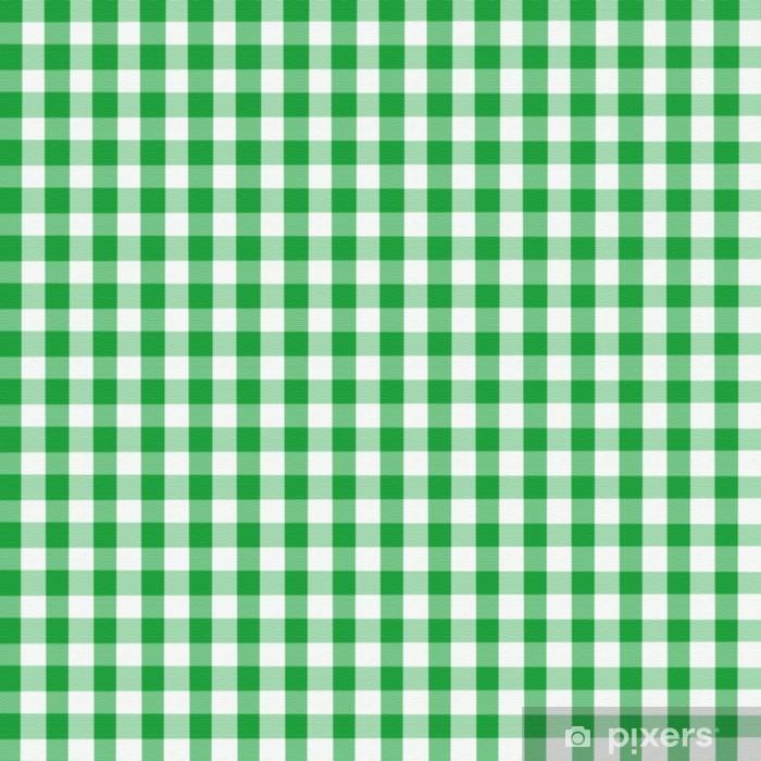 Charmant Papier Peint Vichy Vert