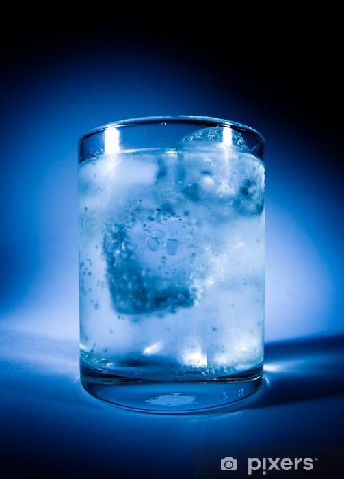Vinilo Pixerstick Empañado Vaso De Agua Con Hielo Pixers