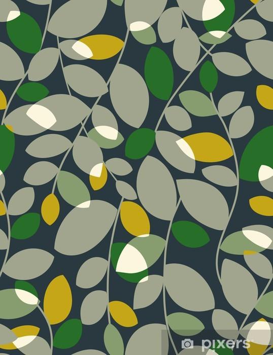 Sticker Pixerstick Feuilles - motif floral transparente - Thèmes