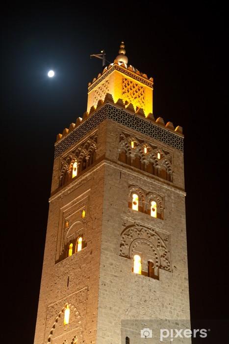 Naklejka Pixerstick Koutoubia, Marrakesz, Maroko - Afryka