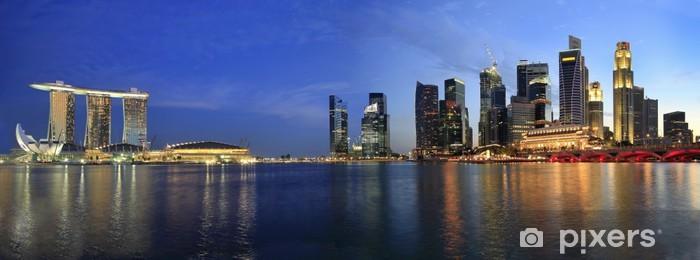 Vinyl Fotobehang Singapore Cityscape van de Esplanade Panorama - Thema's