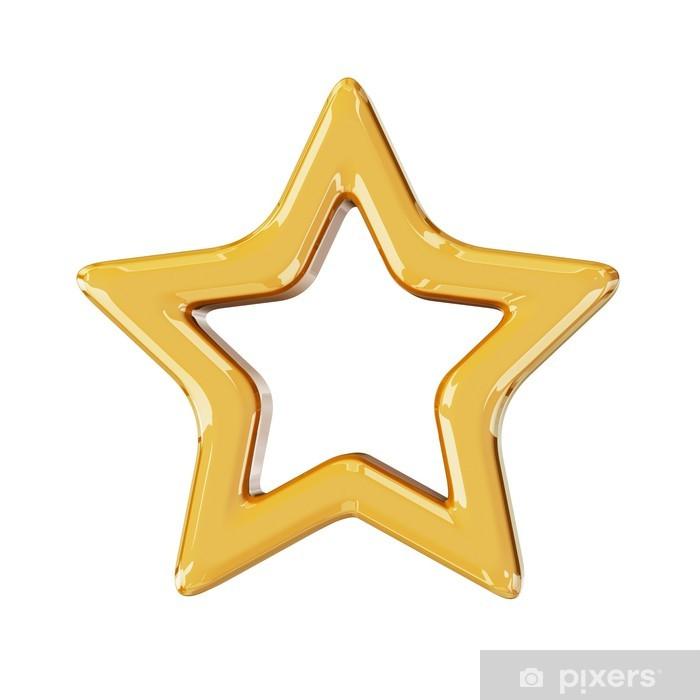 Poster Weihnachten goldenen Stern - Internationale Feste