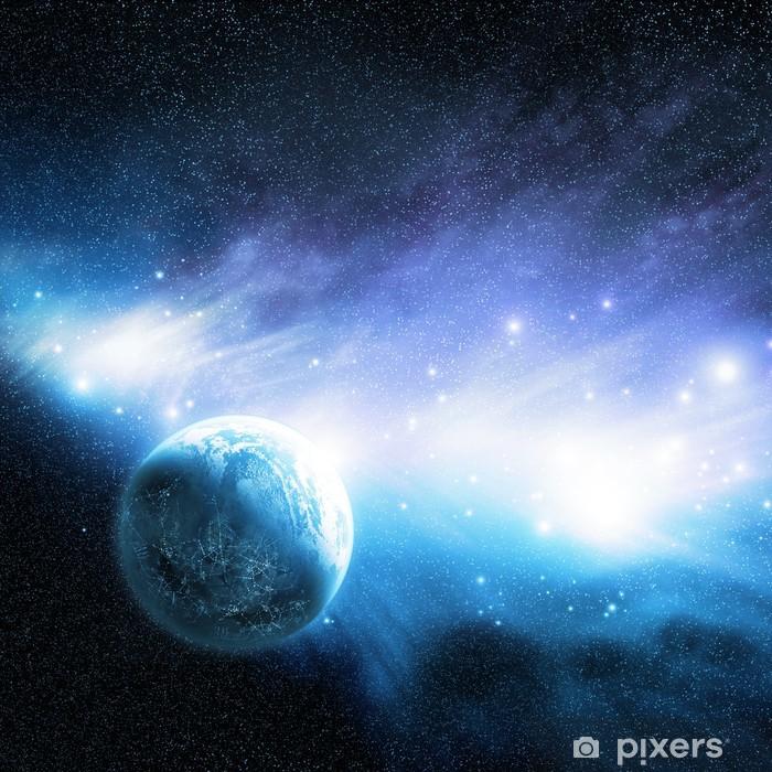 Papier peint vinyle Planète et Nébuleuse - Étoiles