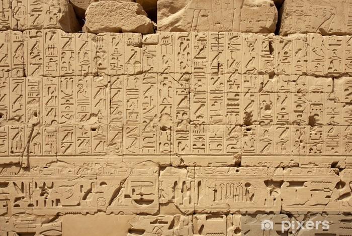 Sticker Pixerstick Les hiéroglyphes égyptiens - Monuments