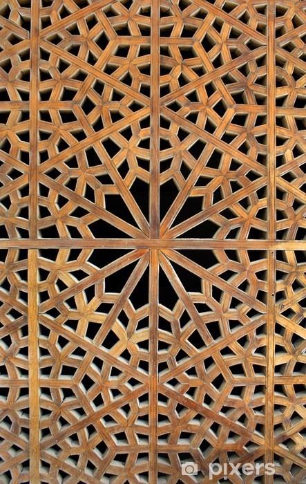 Vinilo Pixerstick Old celosía de madera - Oriente Medio