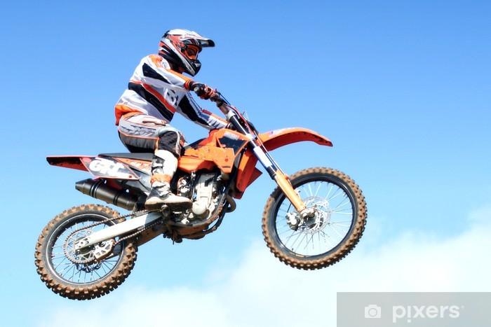 Zelfklevend Fotobehang Motorcross springen - Extreme sport