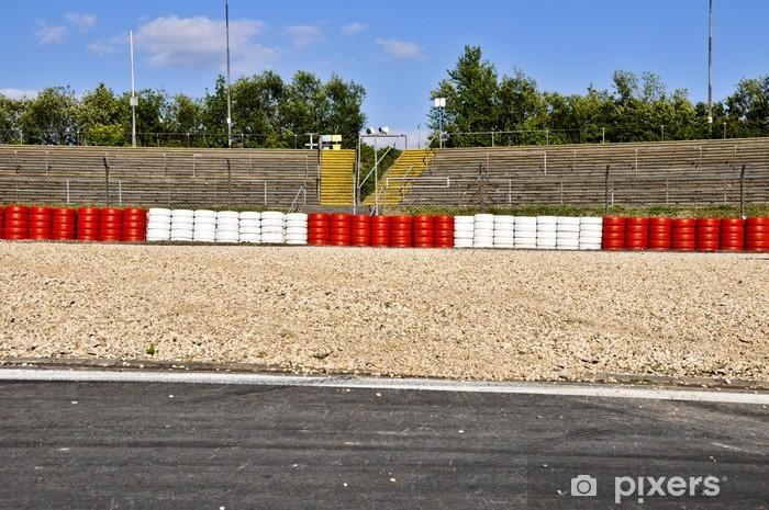 Pixerstick Aufkleber Formel 1 - Rennstrecke, Sicherheitszone, Zuschauertribüne - Straßenverkehr