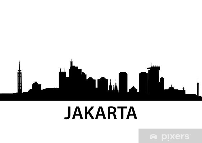 Skyline Jakarta Vinyl Wall Mural - Asia