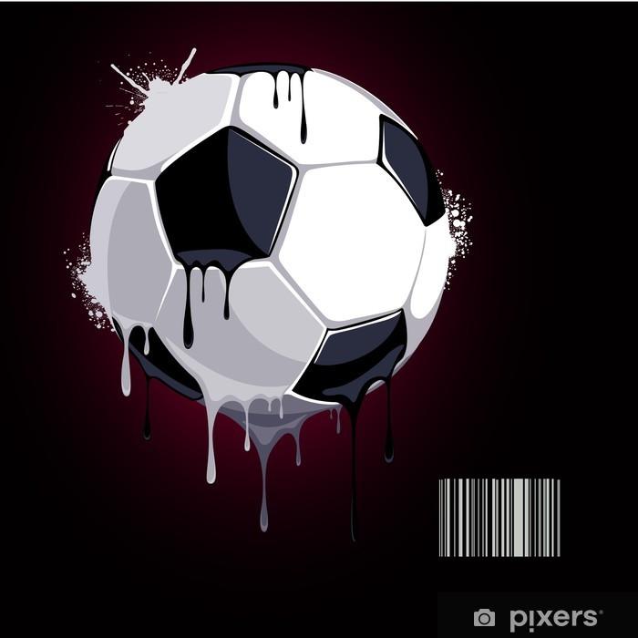 Poster Aus dem Fußball tropfender Farbe - Hintergründe