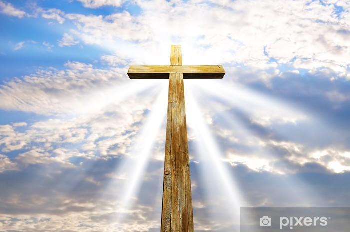 Naklejka Pixerstick Krzyż na tle nieba - Religia i kultura