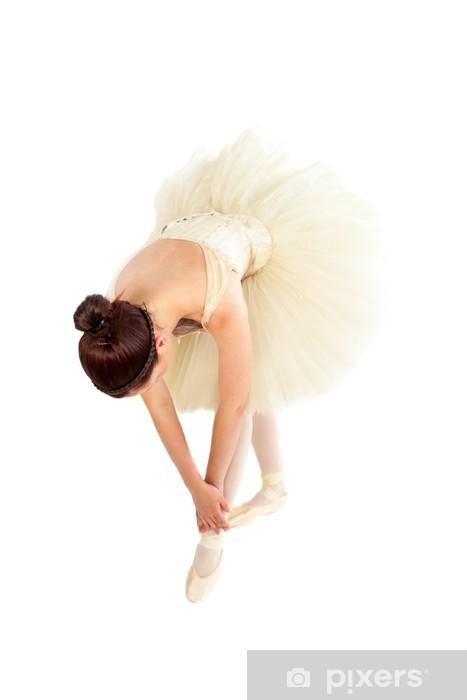Fototapeta winylowa Tancerka baletu streching przed jej lekcji - Tematy