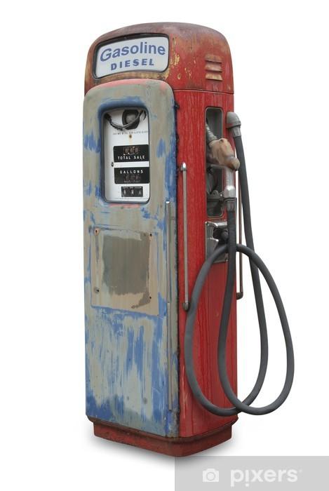 Papier peint vinyle Vieille pompe à essence, isolée avec chemin de détourage - Matières premières