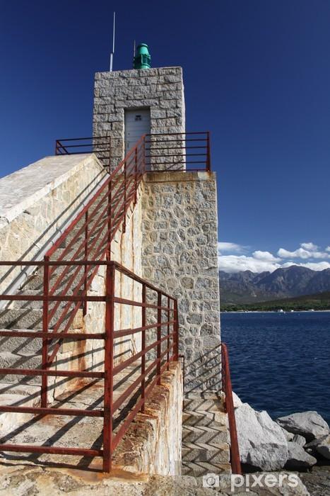 Papier peint vinyle Phare de Calvi, le port, de la Citadelle, Corse, Corse, Balagne - Europe