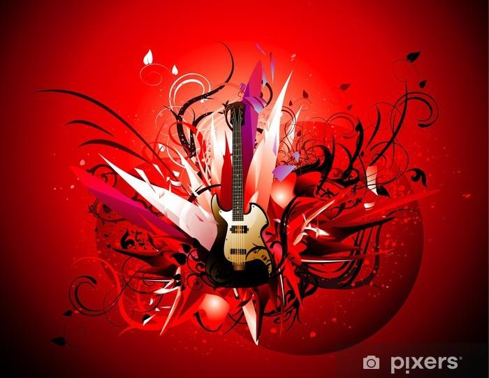 Pixerstick Sticker Guitar abstract vector -