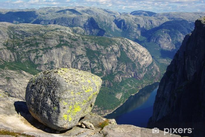 Papier peint vinyle Kjeragbolten, Norvège - Europe