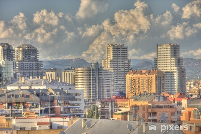Carta da Parati in Vinile Skyline Valencia - Urbano