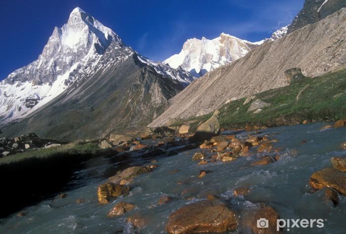 Papier peint vinyle Mont Shivling (6543m) dans l'océan Indien, Himalaya. - Thèmes