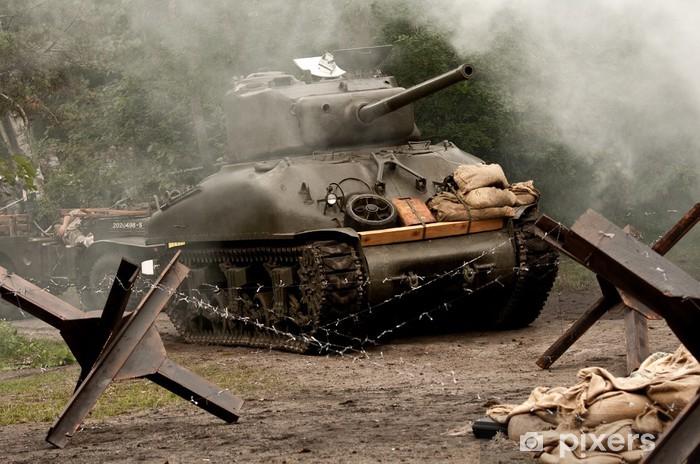 Sherman Tank – WW II Vinyl Wall Mural - Themes