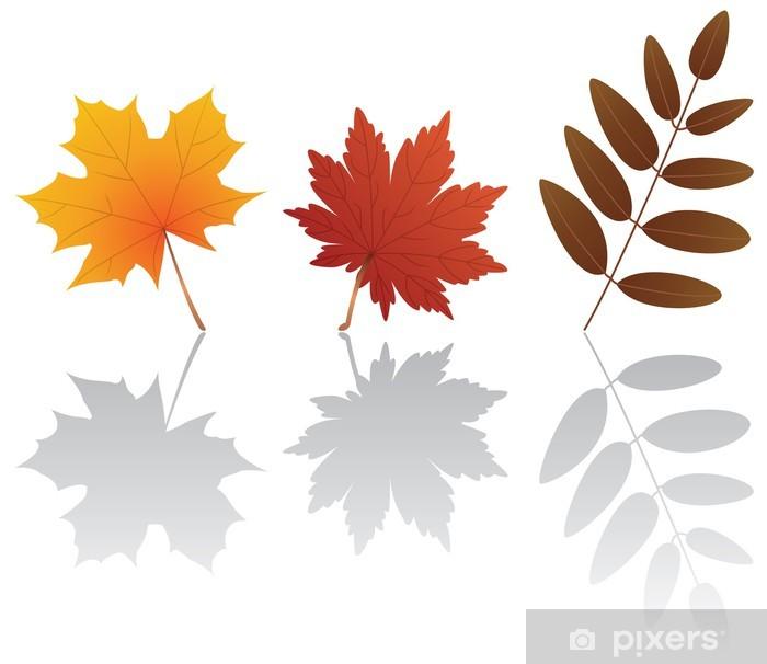 Fototapeta winylowa Vector jesienne liście - Pory roku
