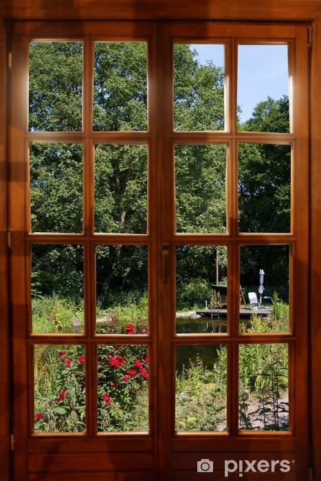 Fototapeta winylowa Widok na ogród - iStaging