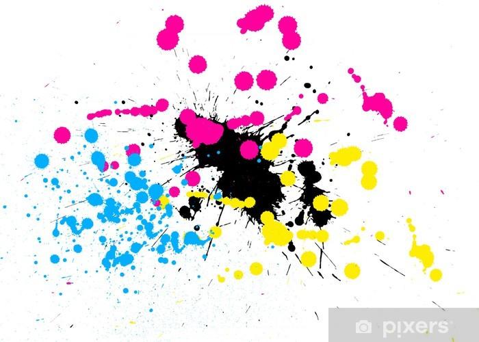 Tâches De Peinture En Cmjn Sticker Pixers We Live To Change