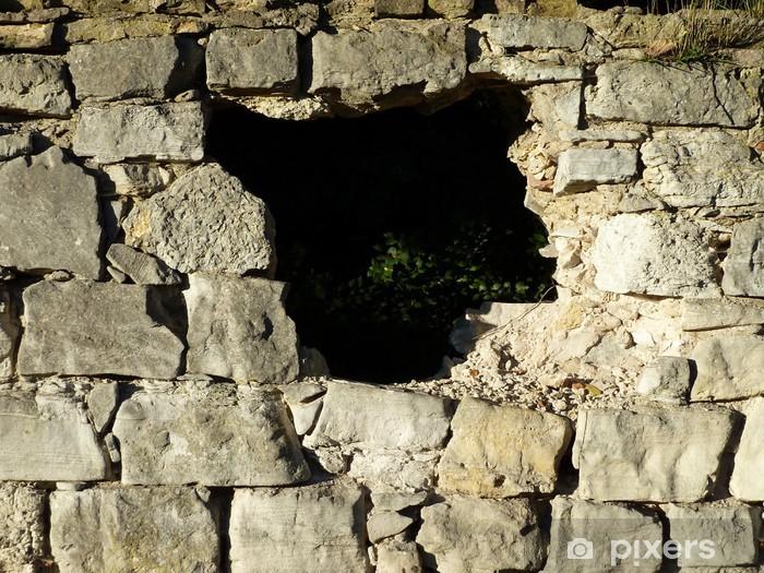 Fototapeta winylowa Dziura w ścianie - Życie