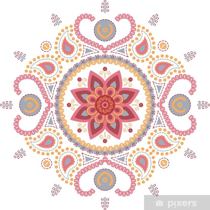 Pixerstick Sticker Lotusbloemmandala wallpaper - Religie