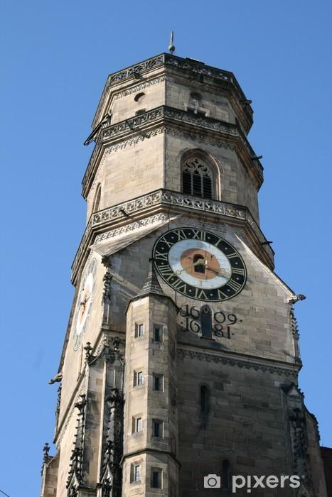 Fototapeta winylowa Wieża kościoła w Stuttgarcie - Europa